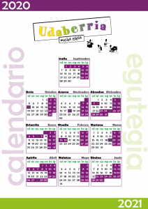 Calendario Udaberria Musika 2020/21 | Vitoria-Gasteiz